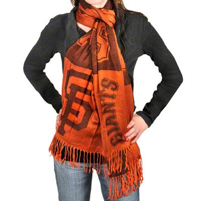 San Francisco Giants Lightweight Pashmina Scarf >> They now carry these @ the dugout store for $38.. a bit pricey but a necessity @ ATT Park