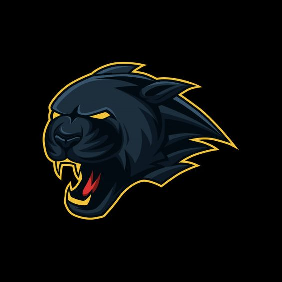 Black panther head mascot esport, sport logo Premium Vector