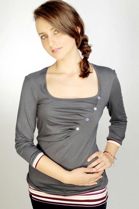 EXPRESS - jersey shirt - dunkelgrau - streifen