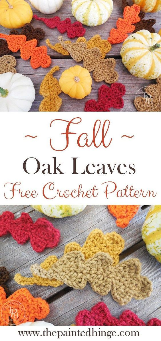 Fall Oak Leaves Free Crochet Pattern