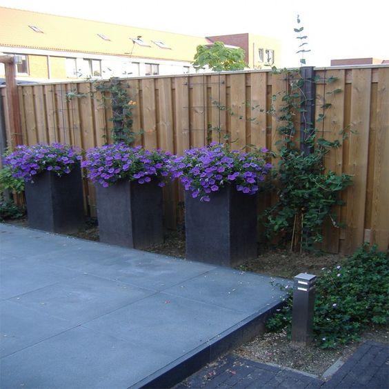 Kleine stadstuin met verhoogd terras en bloembakken - Kleine stadstuin ...