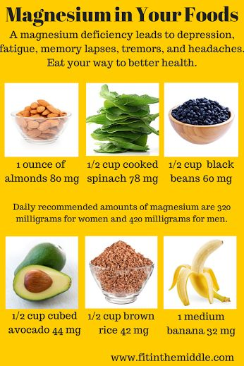 Natural plant based diet: Good sources for magnesium. Magnesium deficiency may lead to depression, fatigue, memory lapses, tremors and headaches. Eat your way to better health.