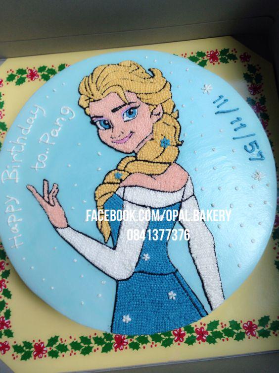 Elsa frozen cake decorate