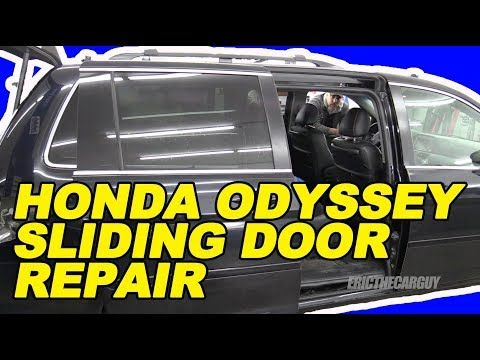 12 Honda Odyssey Sliding Door Repair The Easy Way Youtube Door Repair Honda Odyssey Honda Van