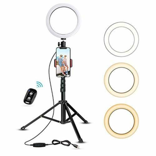 Tripod With 8 Selfie Right Light Cell Phone Holder Live Stream Led Ring Light 818229936884 Ebay Selfie Ring Light Cell Phone Holder Phone Tripod