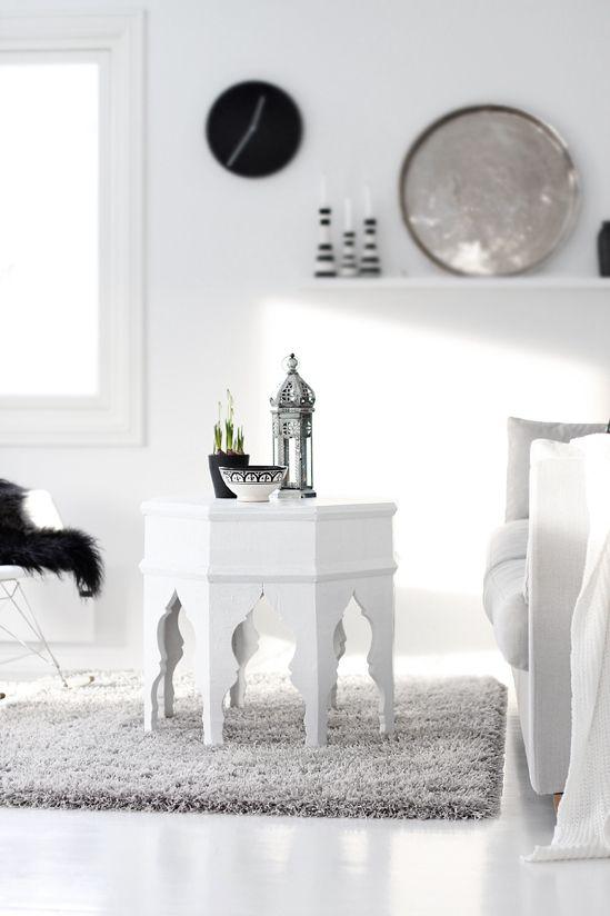 accessoire salon blanc