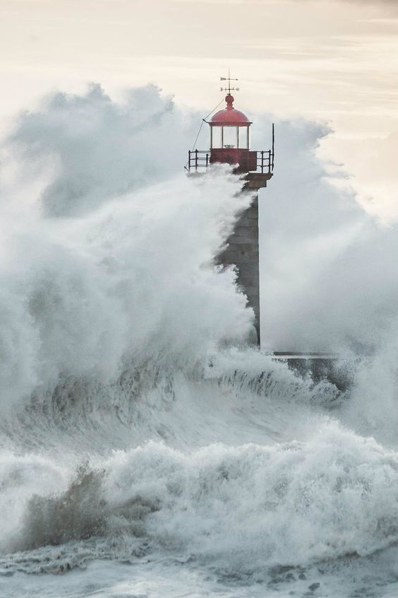 Elements. Felgueiras Lighthouse in Foz do Douro, Porto,Portugal by Macro Nuno Faria
