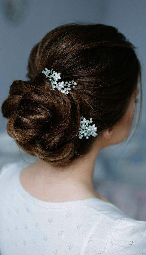 Pack 2 Elegant Silver Crystal Hair Grips Clips Wedding Prom Bridesmaid 6cm Women
