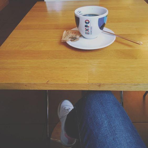 Un caffè da Exkì.  #fwas #fwis #foot_love_club #selfeet #whereistand #fromwhereistand #feet #instafeet #kosedikatia #wheremyfeetare #wheremyfeetaretoday #ihavethisthingwithfloors  #tileaddiction #fromwhereonestand #lookdown #happyfeet #travellingfeet #everystepwetake #makeaselfeet by katia_kappao