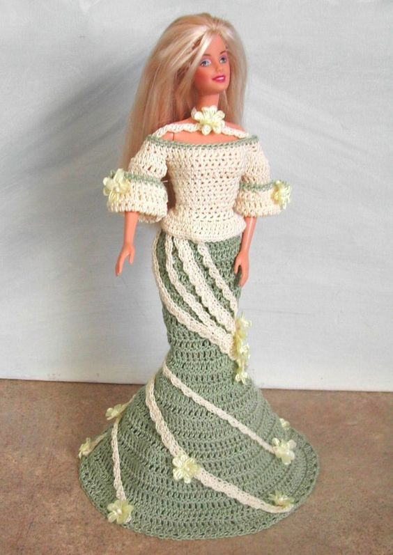 CROCHET FASHION DOLL PATTERN-#572 EXCLUSIVELY PARISIAN #5 #ICSORIGINALDESIGNS