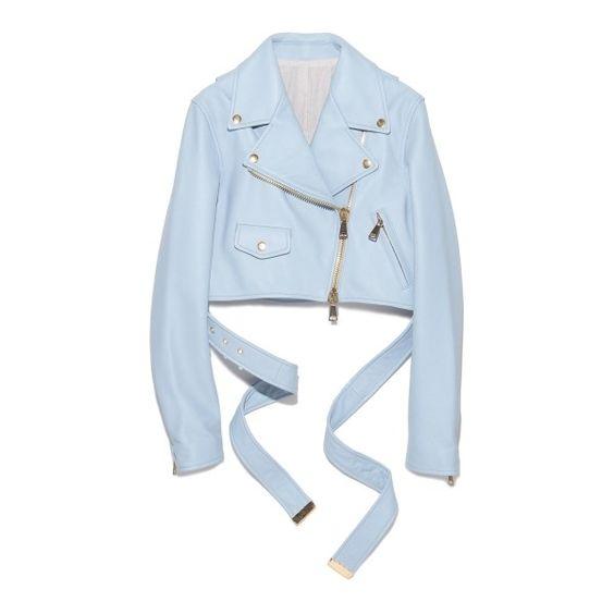 Lamb Leather Jacket ❤ liked on Polyvore featuring outerwear, jackets, lamb leather jacket, lambskin jacket, lambskin leather jacket and blue jackets