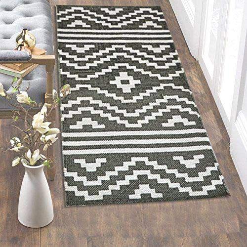 The Home Talk Printed Cotton Floor Rug Bedside Runner Passage Runner 50x100 Cm Best For Bedroom Passage Living R Rugs On Carpet Geometric Carpet Floor Rugs