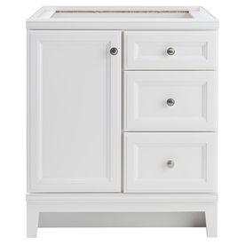 Diamond freshfit calhoun white transitional bathroom vanity common 30 in x 21 in actual 30 for 30 x 21 bathroom vanity white
