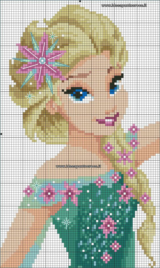 Frozen Fever - Queen Elsa perler bead pattern