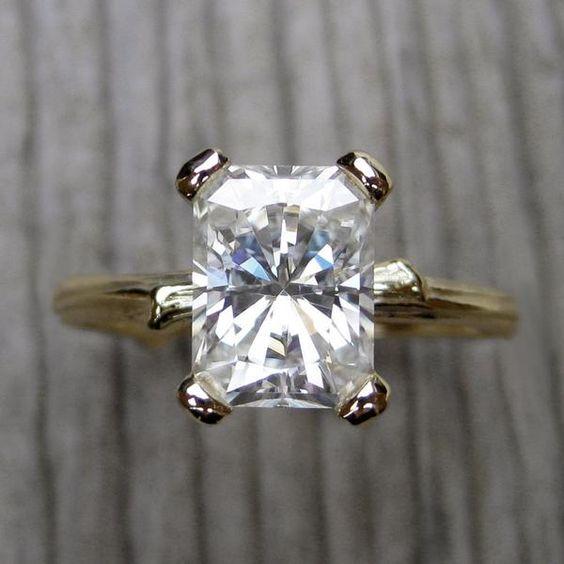 Radiant Forever Brilliant™ Moissanite Twig Engagement Ring (1.8ct)
