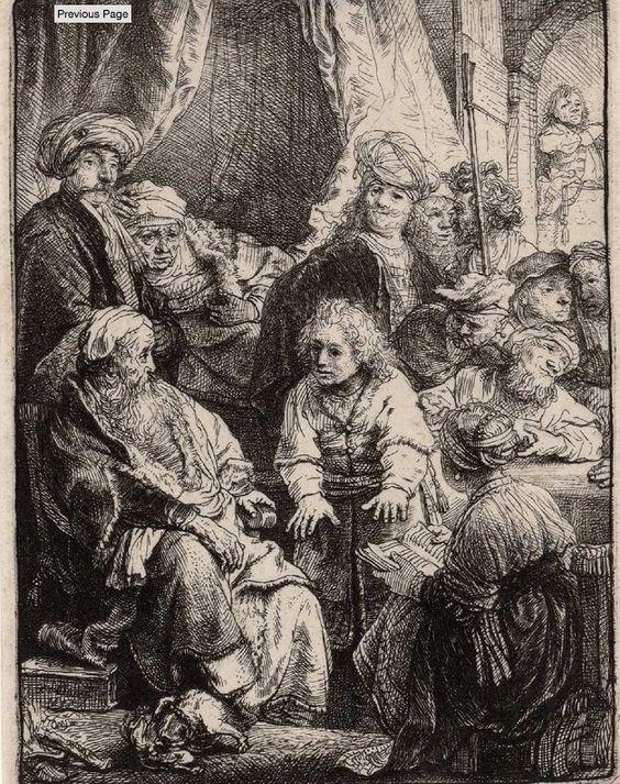 [José relatando sus sueños]. Rembrandt Harmenszoon van Rijn 1606-1669 — Grabado — 1638