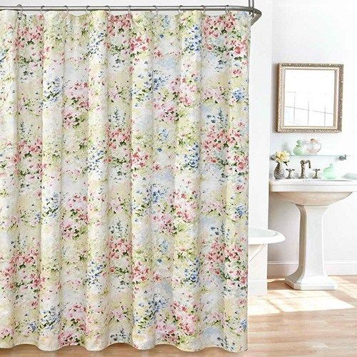 Giverny Shower Curtain Set Floral Shower Curtains Fabric Shower
