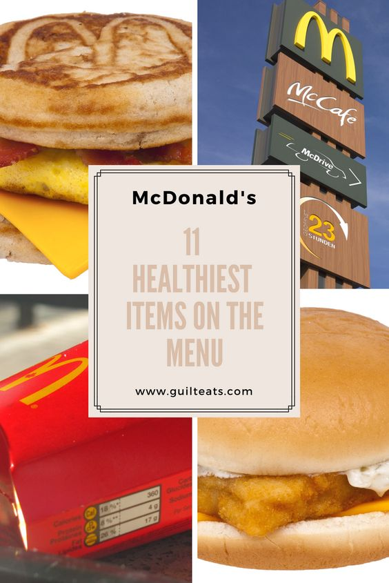 McDonald's is known for its unhealthy burgers and salty fries, but there are some healthier options to choose from and keep you on track with losing weight.