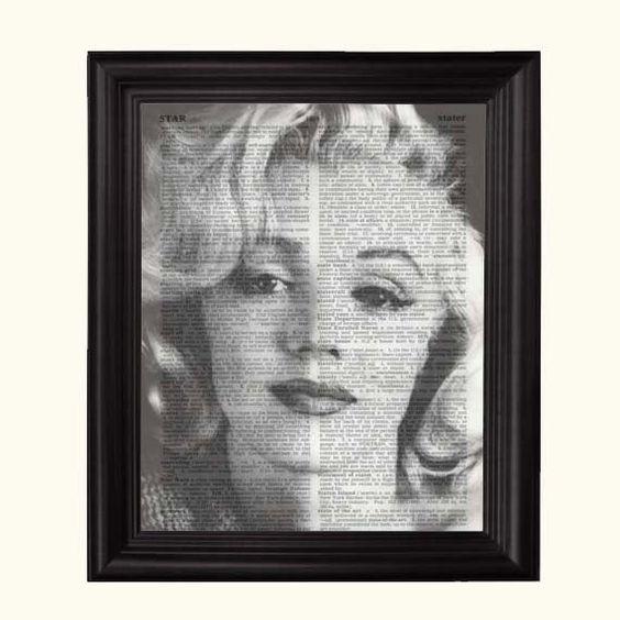Marilyn Monroe Art Print Hollywood Royalty Print by Pixelville