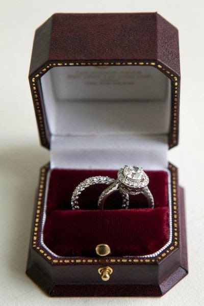 platinum engagement and wedding ring..LOVE