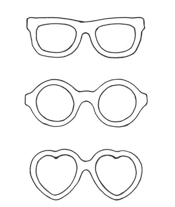 hartjes bril kleurplaat