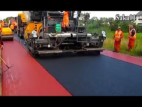 Awesome Modern Road Construction Equipment Mega Machines Technology Hd720p Road Construction Construction Equipment Construction