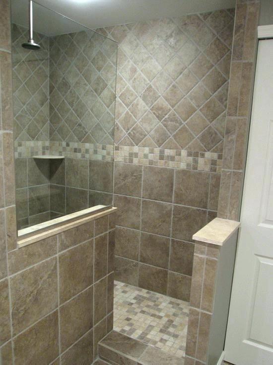 Doorless Shower Ideas Prepossessing Shower Design Walk In Designs Kits Small Bathroom Doorless S Rekonstrukciya Dushevoj Tradicionnaya Vannaya Dizajn Plitki V Dushe