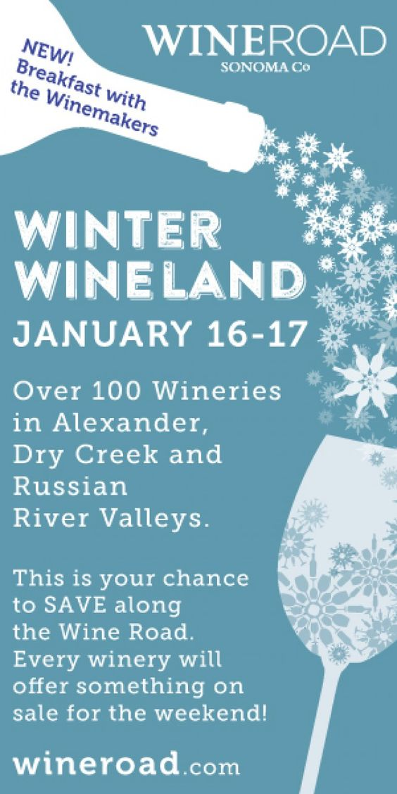 We're part of Winter Wineland this weekend. If you're around, come in and see us! The tasting room is beautifully decorated (pics to come soon). https://www.wineroad.com/events/winter-wineland/
