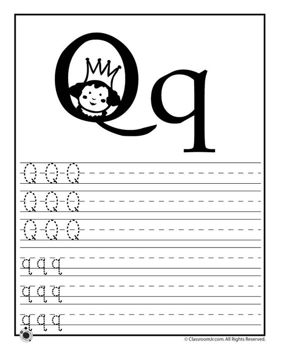 Learning ABCs Worksheets Learn Letter Q Classroom Jr – Letter Q Worksheets