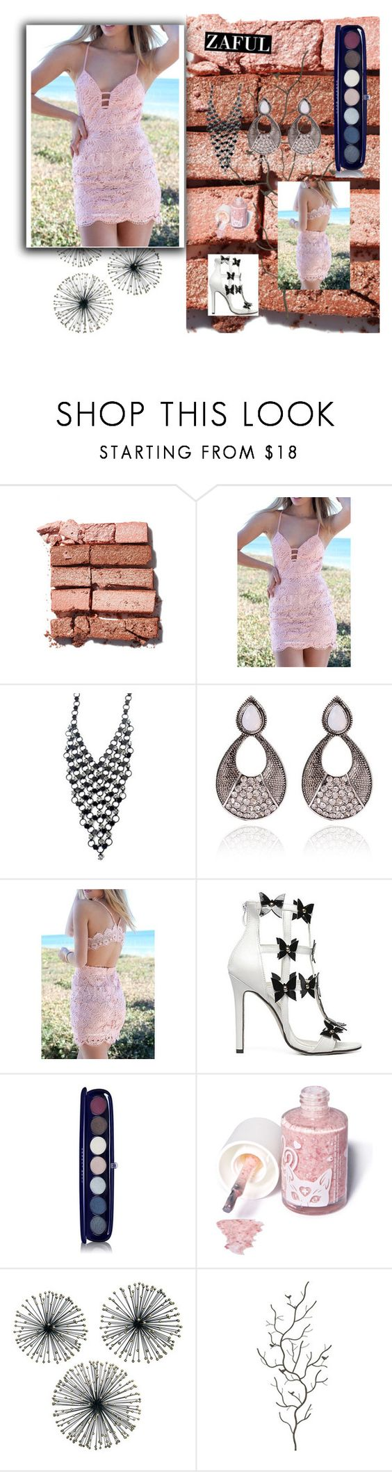 """Zaful# III-45"" by merima-musanovic ❤ liked on Polyvore featuring Bobbi Brown Cosmetics, Marc Jacobs, Sugarpill, Dot & Bo, Universal Lighting and Decor and zaful"