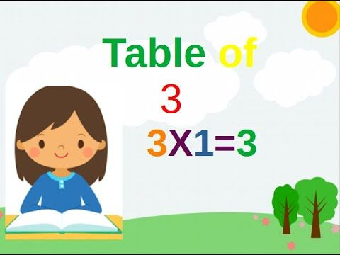 Table Of 3 Learn Multiplication Table Of Three 3 X 1 3 2 Times Tables Edupublic Youtube Multiplication Times Tables Multiplication Table