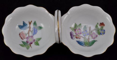 Herend Porcelain Queen Victoria Double Salt Dip