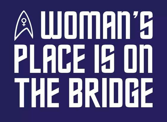 A woman's place is on the bridge: