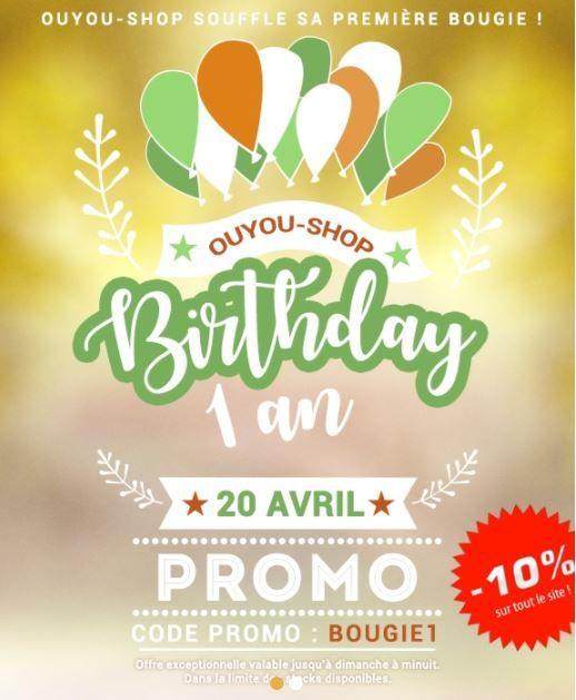 Ouyou Shop Fete Son 1er Anniversaire O Code Promo Bougie1 10 Sur Tout Le Site Depechez Vous Produits Cosmetiques Produits De Beaute Cosmetique Coreen