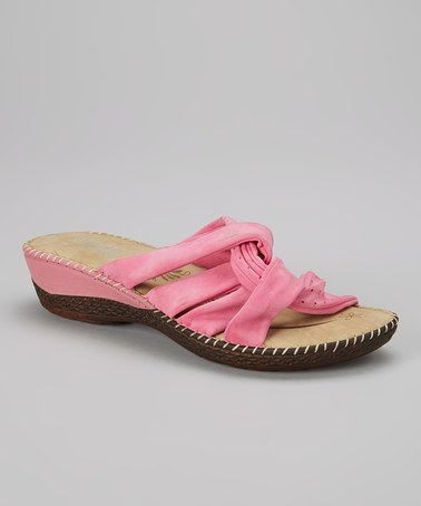 Loving this Fuchsia Bunch Strap Sandal on #zulily! #zulilyfinds