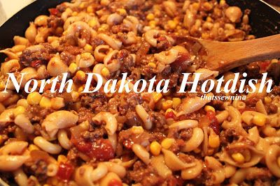 """North Dakota Hotdish  From North Dakota and we never called it """"Funeral Hotdish"""" as she says is the real name.  We called it Hamburger Hotdish.  It isn't uncommon for it to be part of the meal after a funeral, but it is also popular at any larger gatherings like weddings, birthdays, graduations, etc. - HF"""