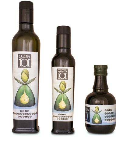Oli Quota 101 - We simply pick the fruits during the veraison period and bring them to the oil mill in order to extract the relative juice. Our olive oil is natural and summarizes the typical characteristics of the Euganean Hills.  It is delicate and fruity, discrete but generous.  The label has been designed by the illustrator Francesca Ferri.
