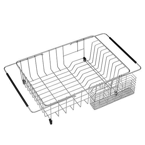 Org Aluminum Expandable Over The Sink Dish Rack With Images