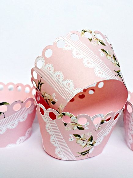 Wrapper para cupcake - floral