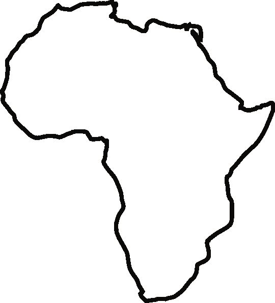 Africa Outline Map Pdf Map Of Africa Silhouette At Getdrawings Free For Personal Use 540 X 595 Pixels Free Printa Africa Outline Africa Silhouette Africa Map