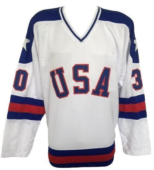 Jim Craig Usa Signed Custom White 1980 Miracle On Ice Hockey Jersey Jsa Signed Custom White Ice Hockey Jersey Hockey Jersey Jersey