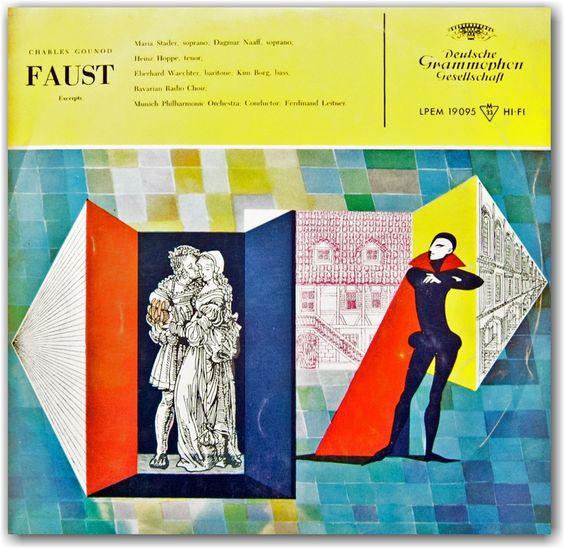 Faust, MidCentury Album Cover Deutshe Gramaphon