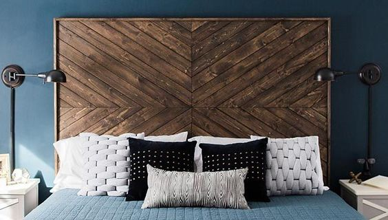 You could build this custom chevron headboard using your air compressor! Check out this quick and easy tutorial from Lowe's.