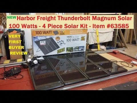 Harbor Freight 100 Watt Solar Kit 63585 New Thunderbolt Magnum See Info Below Youtube Solarpanels Solar Kit Solar Panels Solar Projects