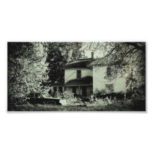 Abandoned House and Car Photographic Print $2.15