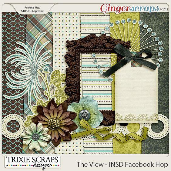 Quality DigiScrap Freebies: The View mini kit freebie from Trixie Scraps Designs