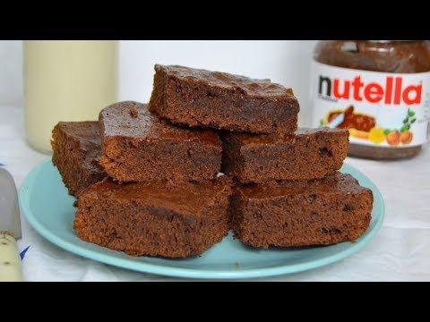 Brownie De Nutella Con Solo 3 Ingredientes Con Receta Paso A Paso Y Vídeo Postres Con Nutella Nutella Recetas Nutella