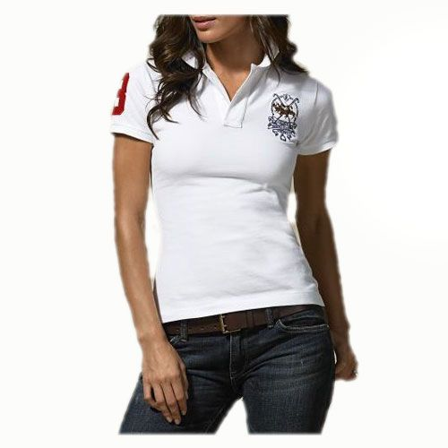 Ralph Lauren Womens Durable Cotton Short-sleeved Polo White