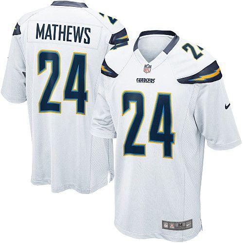 Mens Nike San Diego Chargers #24 Ryan Mathews Limited White Jersey$89.99