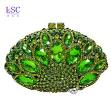 Lasc Hot venda bolsa de embreagem mulheres saco de cristal strass luxo saco de embreagem saco festa de casamento bolsa pochette SC106(China (Mainland))